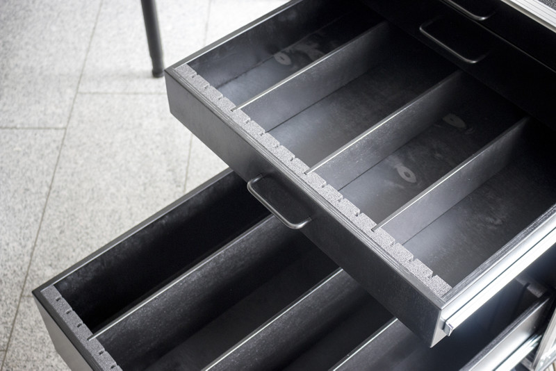 Toolcase mit Schubladen und Steckwände